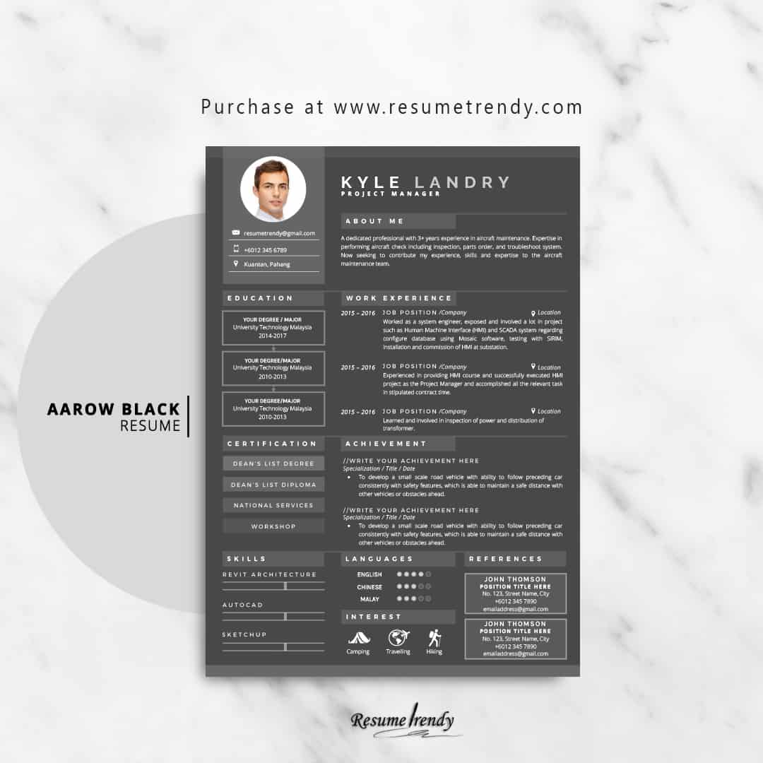modern resume template 2019  updated