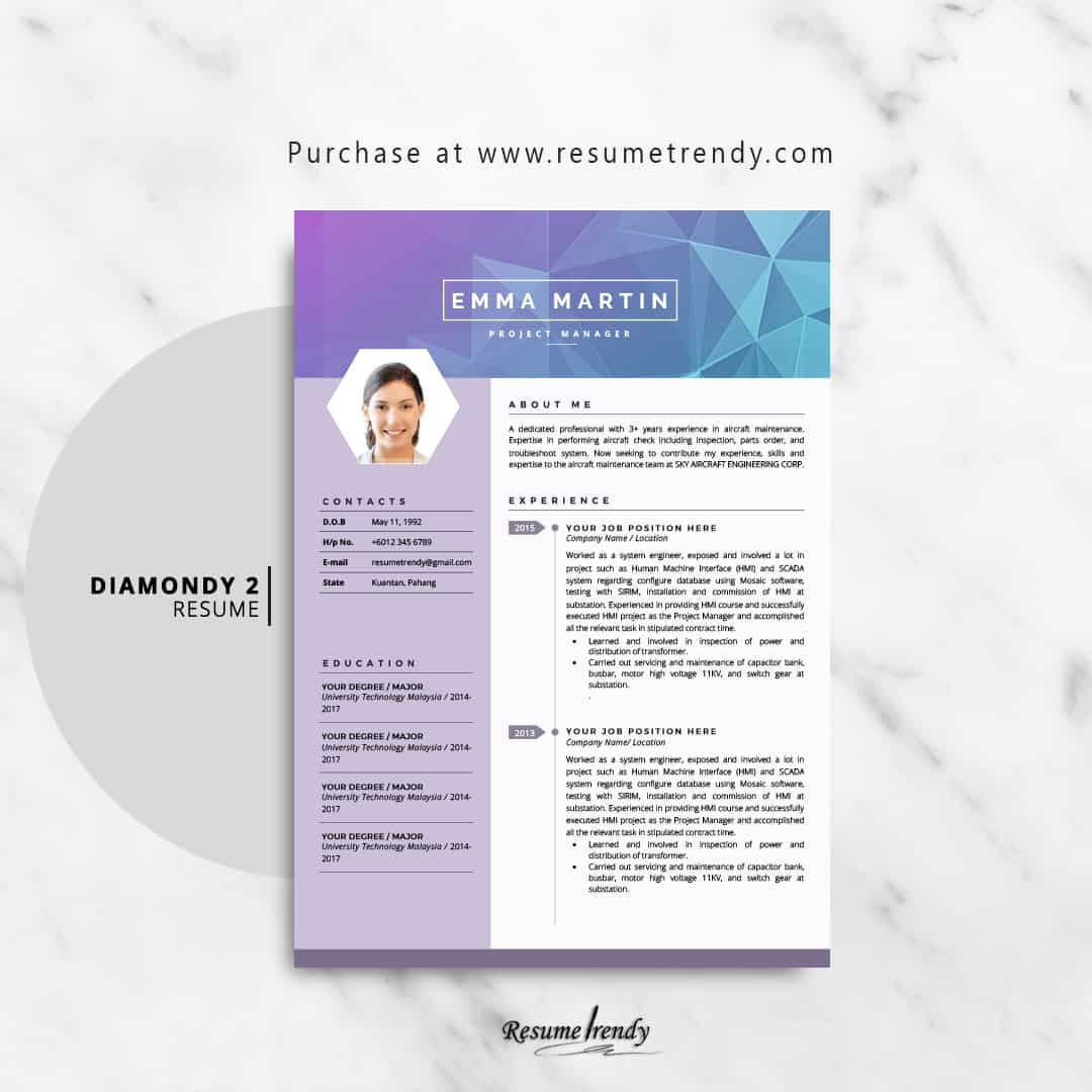 geometric resume template
